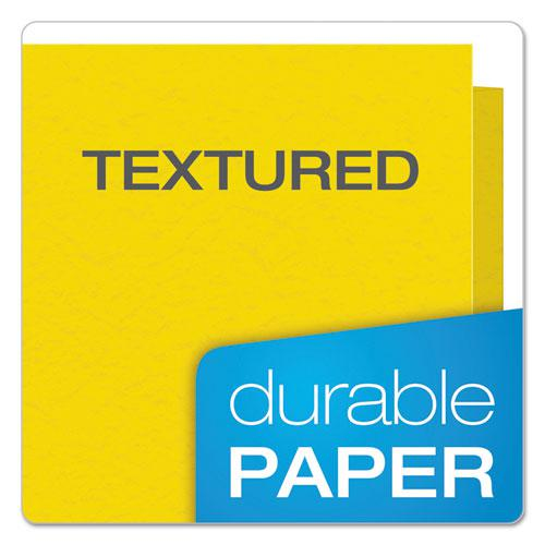 Colored File Folders, 1/3-Cut Tabs, Letter Size, Yellowith Light Yellow, 100/Box. Picture 7