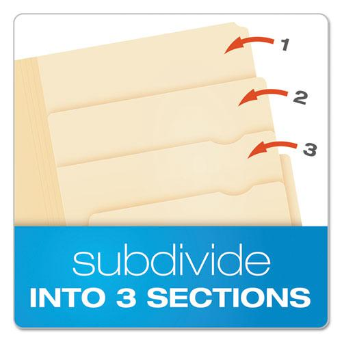 Divide It Up File Folders, 1/2-Cut Tabs, Letter Size, Manila, 24/Pack. Picture 2