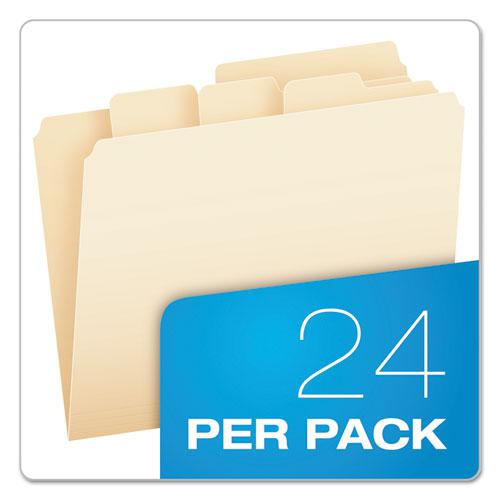 Divide It Up File Folders, 1/2-Cut Tabs, Letter Size, Manila, 24/Pack. Picture 4