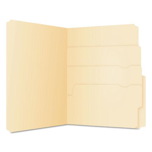 Divide It Up File Folders, 1/2-Cut Tabs, Letter Size, Manila, 24/Pack. Picture 1