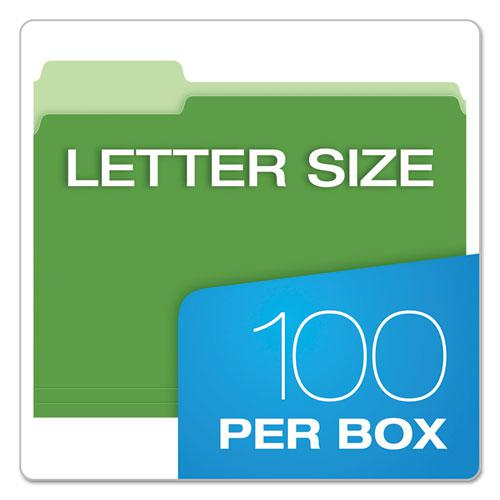 CutLess File Folders, 1/3-Cut Tabs, Letter Size, Assorted, 100/Box. Picture 6