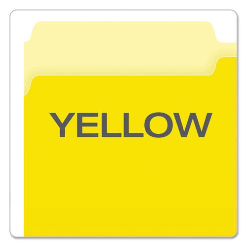Colored File Folders, 1/3-Cut Tabs, Legal Size, Yellowith Light Yellow, 100/Box. Picture 4