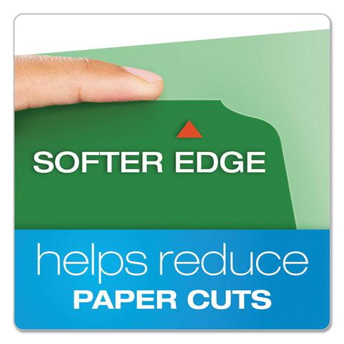 CutLess File Folders, 1/3-Cut Tabs, Letter Size, Assorted, 100/Box. Picture 2