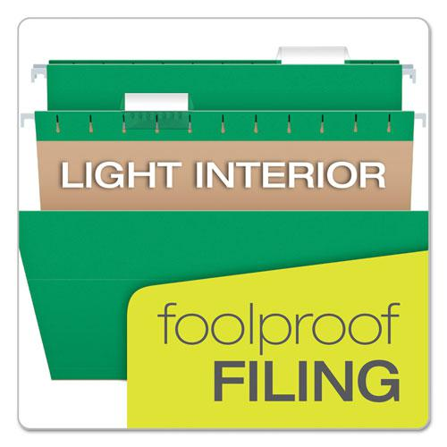 Colored Hanging Folders, Letter Size, 1/5-Cut Tab, Bright Green, 25/Box. Picture 7