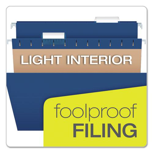 Colored Hanging Folders, Letter Size, 1/5-Cut Tab, Navy, 25/Box. Picture 7