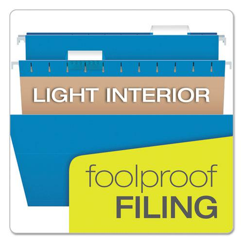 Colored Hanging Folders, Legal Size, 1/5-Cut Tab, Assorted, 25/Box. Picture 7