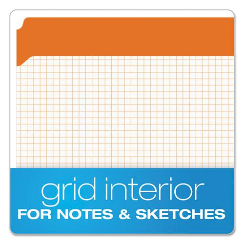 Double-Ply Reinforced Top Tab Colored File Folders, Straight Tab, Letter Size, Orange, 100/Box. Picture 2