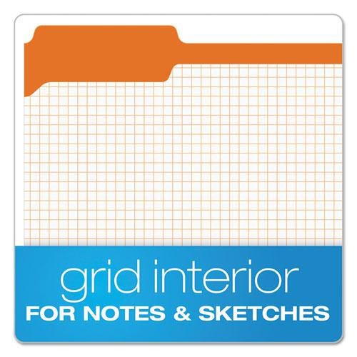 Double-Ply Reinforced Top Tab Colored File Folders, 1/3-Cut Tabs, Letter Size, Orange, 100/Box. Picture 2