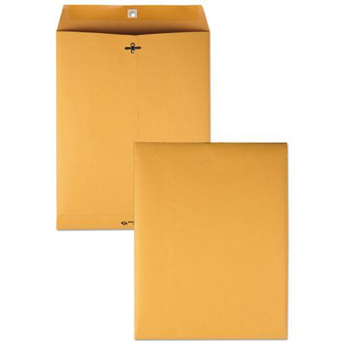 Clasp Envelope, #97, Square Flap, Clasp/Gummed Closure, 10 x 13, Brown Kraft, 100/Box. Picture 3