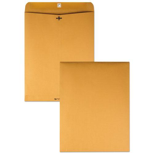 Clasp Envelope, #110, Square Flap, Clasp/Gummed Closure, 12 x 15.5, Brown Kraft, 100/Box. Picture 1