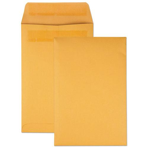 Redi-Seal Catalog Envelope, #1, Cheese Blade Flap, Redi-Seal Closure, 6 x 9, Brown Kraft, 100/Box. Picture 1