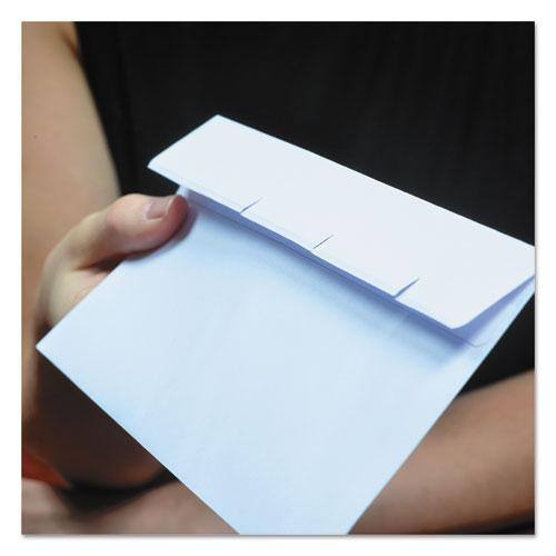 Reveal-N-Seal Envelope, #9, Commercial Flap, Self-Adhesive Closure, 3.88 x 8.88, White, 500/Box. Picture 4