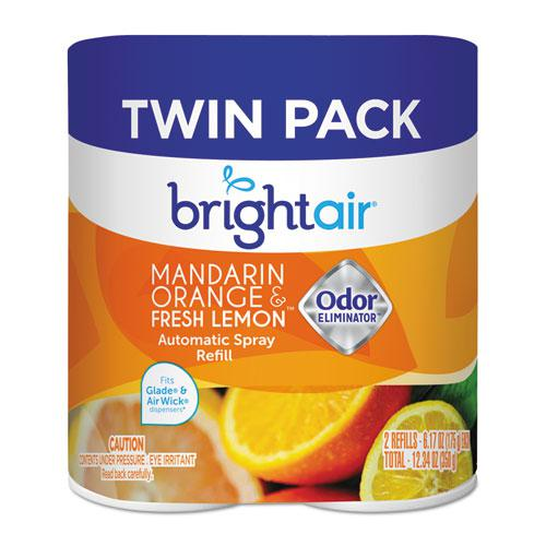 Automatic Spray Air Freshener Refill, Mandarin Orange & Fresh Lemon, 6/Carton. Picture 1