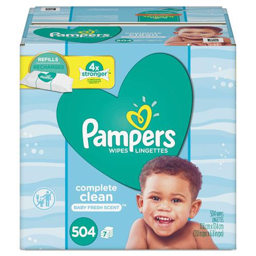 Complete Clean Baby Wipes, 1 Ply, Baby Fresh, 504/Pack. Picture 1