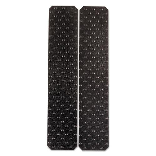 "XtremeGrip Studded Anti-Slip Adhesive Strips, 5"" x 24"", Black. Picture 1"