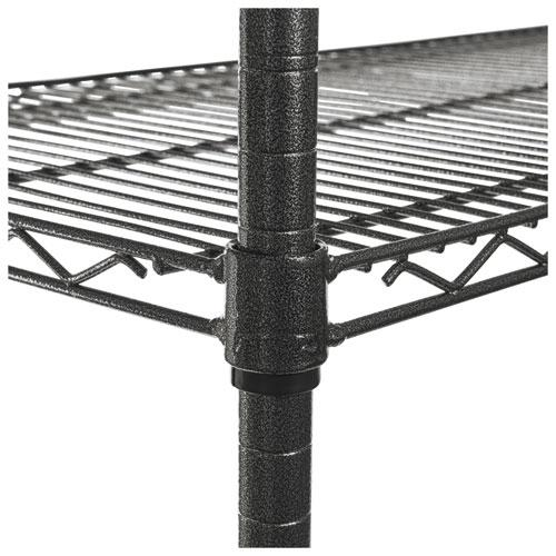 NSF Certified 4-Shelf Wire Shelving Kit with Casters, 48w x 18d x 72h, Black Anthracite. Picture 5