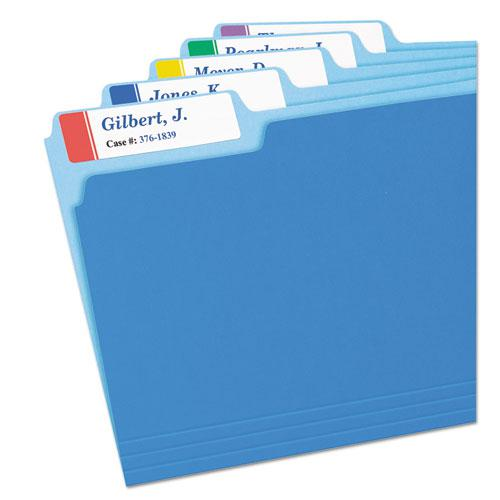 Extra-Large TrueBlock File Folder Labels with Sure Feed Technology, 0.94 x 3.44, White, 18/Sheet, 25 Sheets/Pack. Picture 2