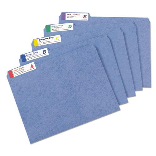 Extra-Large TrueBlock File Folder Labels with Sure Feed Technology, 0.94 x 3.44, White, 18/Sheet, 25 Sheets/Pack. Picture 4