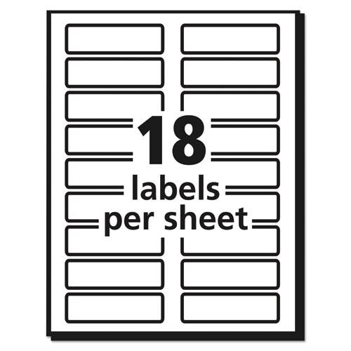 Extra-Large TrueBlock File Folder Labels with Sure Feed Technology, 0.94 x 3.44, White, 18/Sheet, 25 Sheets/Pack. Picture 6
