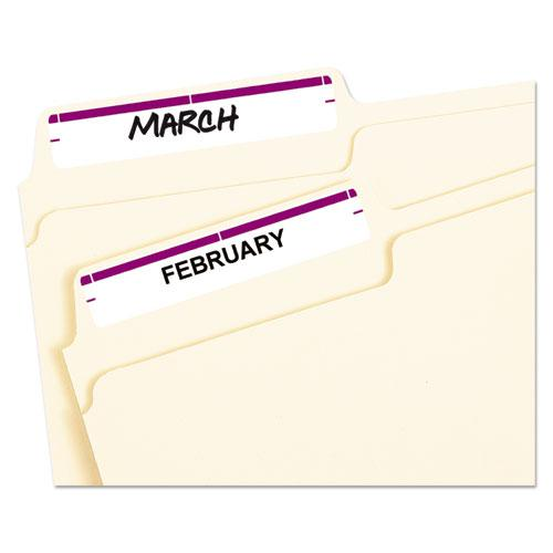 "Printable 4"" x 6"" - Permanent File Folder Labels, 0.69 x 3.44, White, 7/Sheet, 36 Sheets/Pack, (5204). Picture 2"