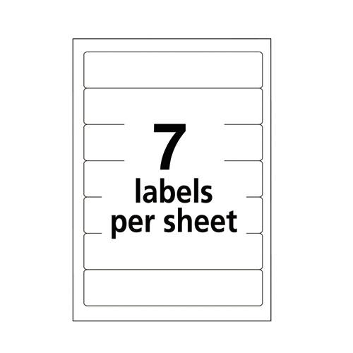 "Printable 4"" x 6"" - Permanent File Folder Labels, 0.69 x 3.44, White, 7/Sheet, 36 Sheets/Pack, (5203). Picture 4"