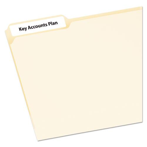 EcoFriendly Permanent File Folder Labels, 0.66 x 3.44, White, 30/Sheet, 25 Sheets/Pack. Picture 2
