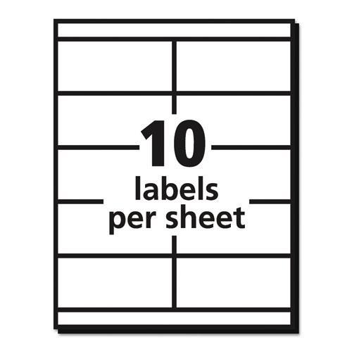 Copier Mailing Labels, Copiers, 2 x 4.25, White, 10/Sheet, 100 Sheets/Box. Picture 4