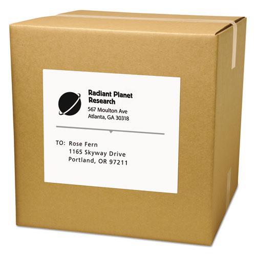 Copier Mailing Labels, Copiers, 8.5 x 11, White, 100/Box. Picture 3