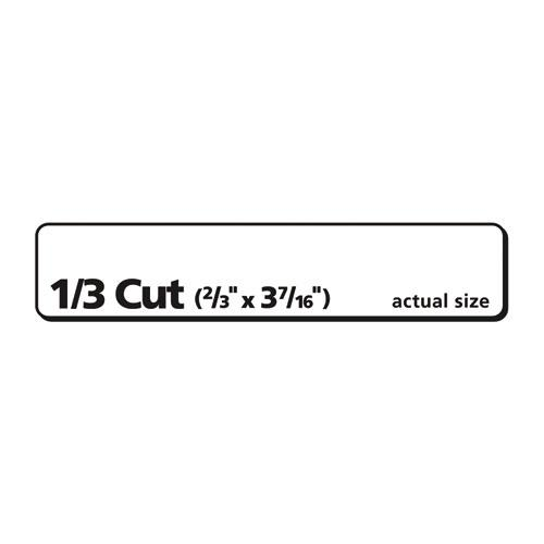 EcoFriendly Permanent File Folder Labels, 0.66 x 3.44, White, 30/Sheet, 50 Sheets/Pack. Picture 3