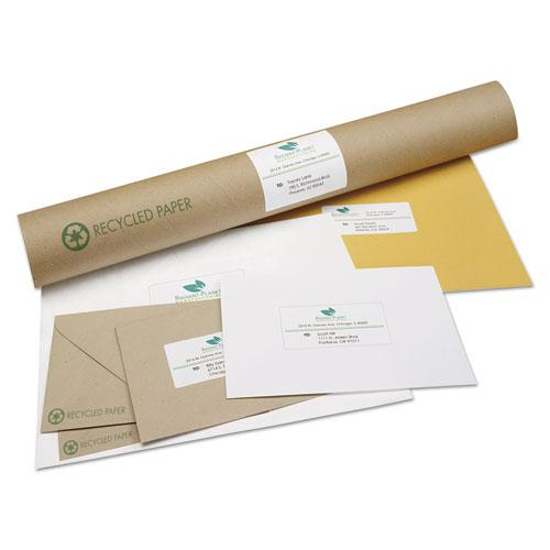 EcoFriendly Mailing Labels, Inkjet/Laser Printers, 2 x 4, White, 10/Sheet, 100 Sheets/Pack. Picture 3