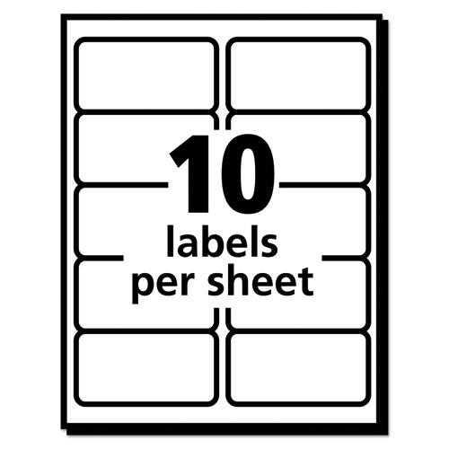 EcoFriendly Mailing Labels, Inkjet/Laser Printers, 2 x 4, White, 10/Sheet, 25 Sheets/Pack. Picture 4