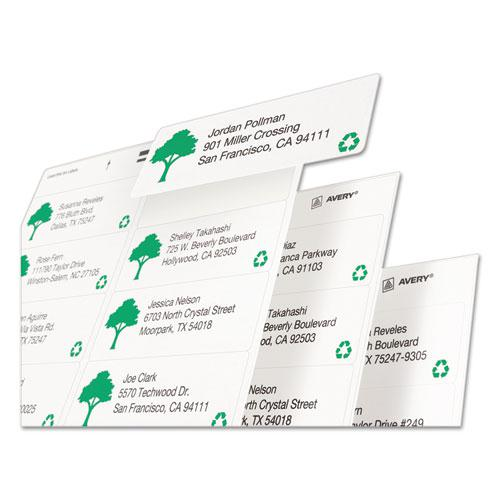 EcoFriendly Mailing Labels, Inkjet/Laser Printers, 1 x 2.63, White, 30/Sheet, 250 Sheets/Box. Picture 3