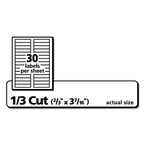 Permanent TrueBlock File Folder Labels with Sure Feed Technology, 0.66 x 3.44, White, 30/Sheet, 60 Sheets/Box. Picture 3