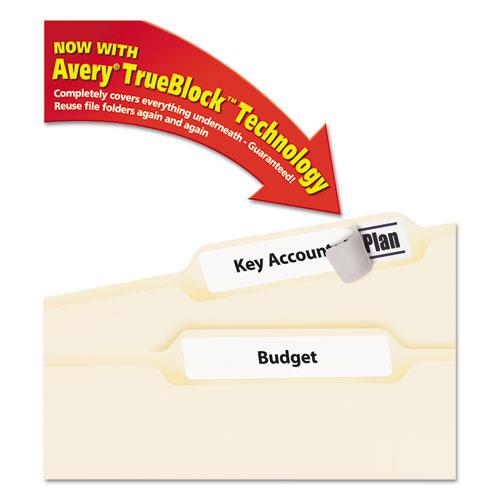 Permanent TrueBlock File Folder Labels with Sure Feed Technology, 0.66 x 3.44, White, 30/Sheet, 60 Sheets/Box. Picture 1
