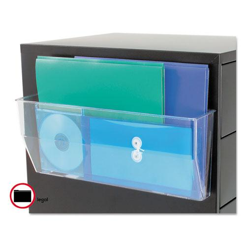 Magnetic DocuPocket Wall File, Legal, 15 x 3 x 6 3/8, Clear. Picture 2