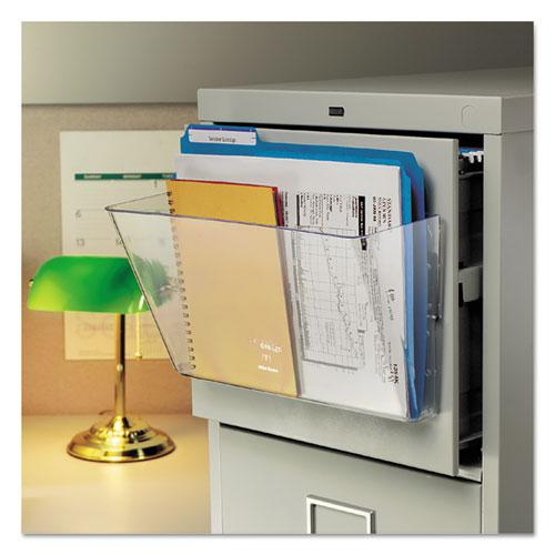 Magnetic DocuPocket Wall File, Legal, 15 x 3 x 6 3/8, Clear. Picture 5