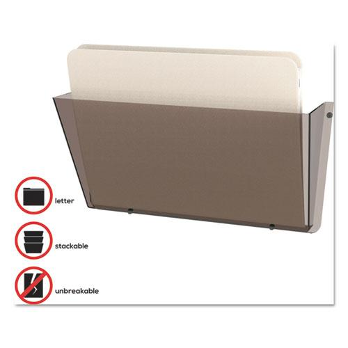 Unbreakable DocuPocket Wall File, Letter, 14 1/2 x 3 x 6 1/2, Smoke. Picture 3