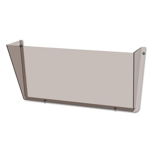 Unbreakable DocuPocket Wall File, Letter, 14 1/2 x 3 x 6 1/2, Smoke. Picture 4