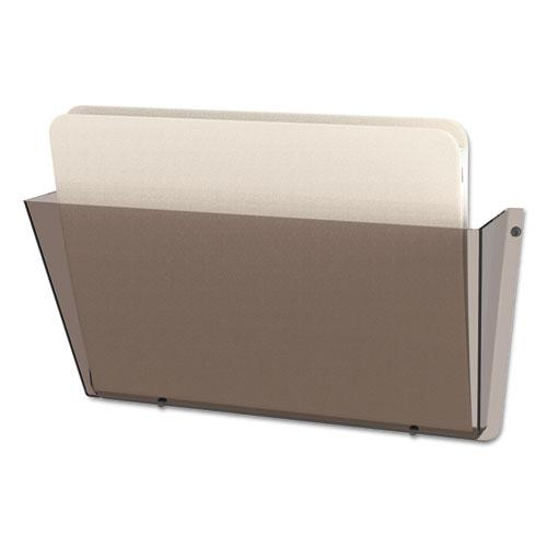 Unbreakable DocuPocket Wall File, Letter, 14 1/2 x 3 x 6 1/2, Smoke. Picture 8