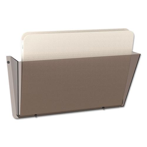 Unbreakable DocuPocket Wall File, Letter, 14 1/2 x 3 x 6 1/2, Smoke. Picture 1