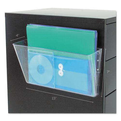 Magnetic DocuPocket Wall File, Letter, 13 x 7 x 4, Clear. Picture 2