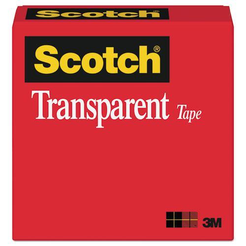 """Transparent Tape, 3"""" Core, 1"""" x 72 yds, Transparent. Picture 1"""