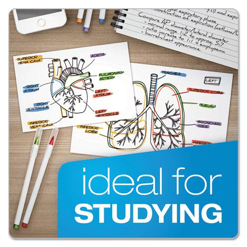 Unruled Index Cards, 4 x 6, White, 100/Pack. Picture 5