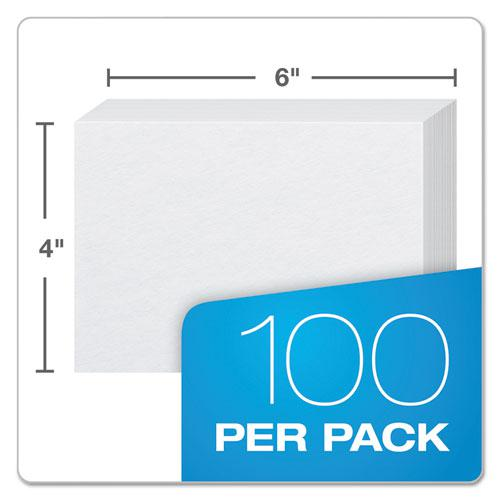 Unruled Index Cards, 4 x 6, White, 100/Pack. Picture 3