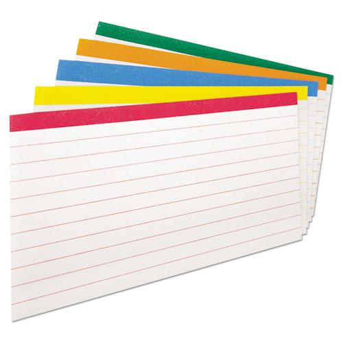Color Coded Ruled Index Cards, 3 x 5, Assorted Colors, 100/Pack. Picture 2