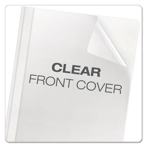 Premium Paper Clear Front Cover, 3 Fasteners, Letter, White, 25/Box. Picture 3