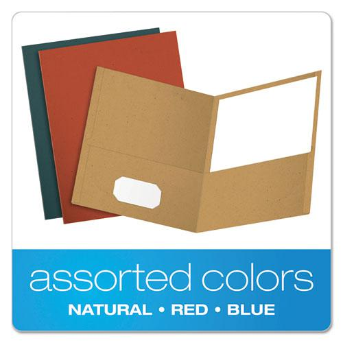 Earthwise by Oxford Recycled Paper Twin-Pocket Portfolio, Assorted Colors, 25/Box. Picture 4