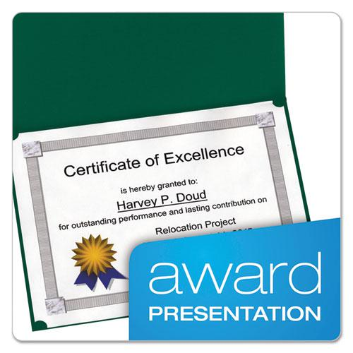 Certificate Holder, 11 1/4 x 8 3/4, Green, 5/Pack. Picture 2