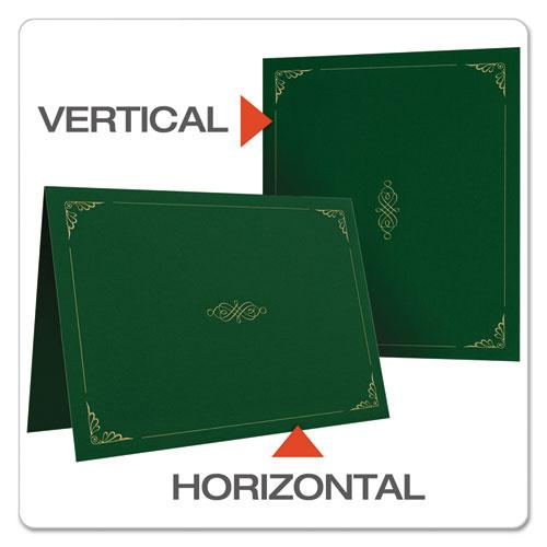 Certificate Holder, 11 1/4 x 8 3/4, Green, 5/Pack. Picture 4