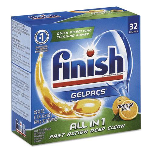 Dish Detergent Gelpacs, Orange Scent, Box of 32 Gelpacs, 8 Boxes/Carton. Picture 2